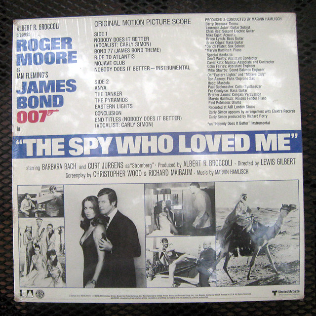 """MARVIN HAMLISCH """"THE SPY WHO LOVED ME"""" SCORE/SOUNDTRACK UA ...The Spy Who Loved Me Soundtrack"""